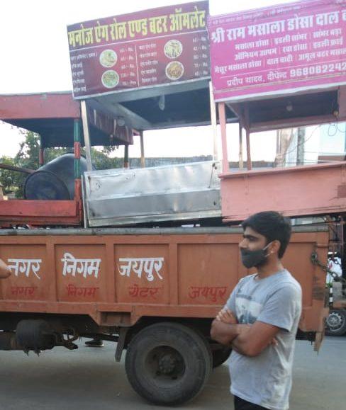 जयपुर नगर – निगम ठेलाकर्मीयों पर कार्यवाही करते समय – वेंडर एक्ट 2014 की पालना करें–